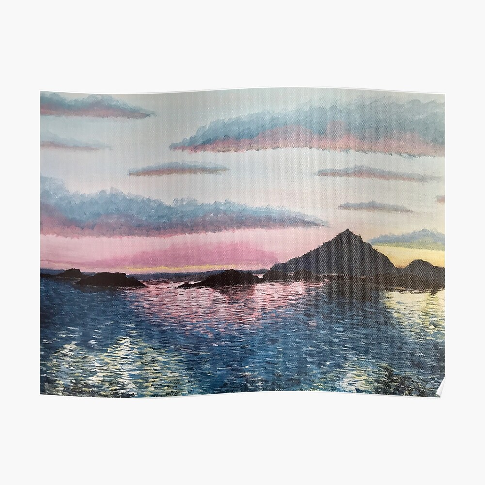 Evening on the Leinesfjord Poster