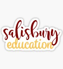Salisbury University Education Sticker