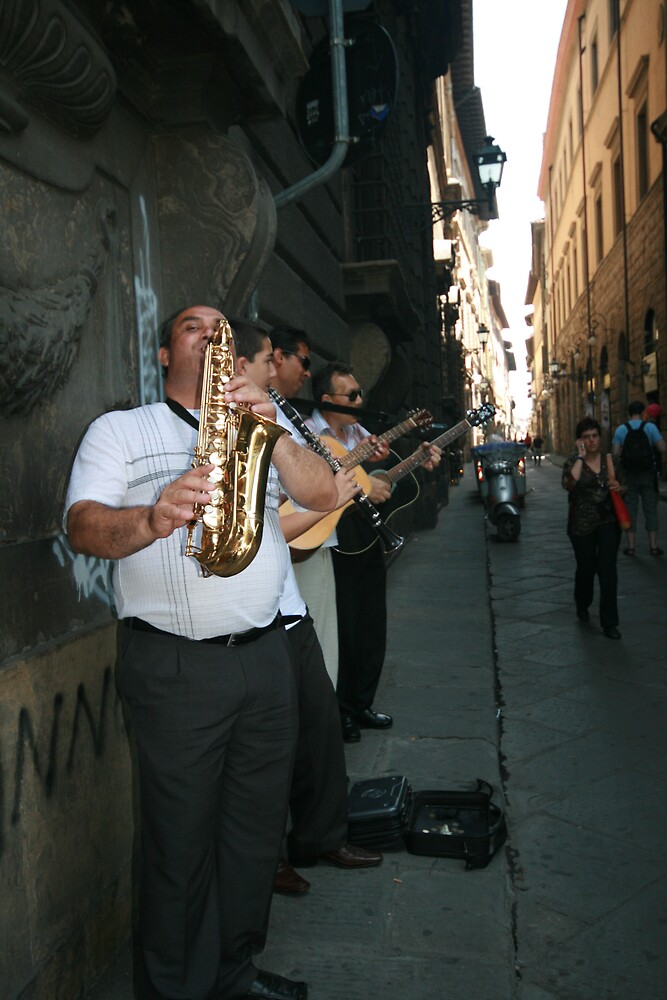 Florence back alley jazz band by Jessica Doran