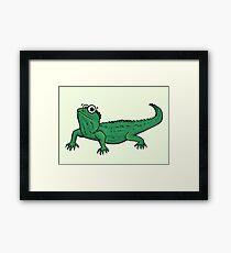 Cute NZ Tuatara Framed Print