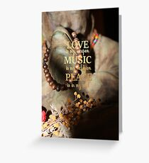 Love Music Peace Greeting Card