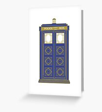 Art Deco Tardis Greeting Card