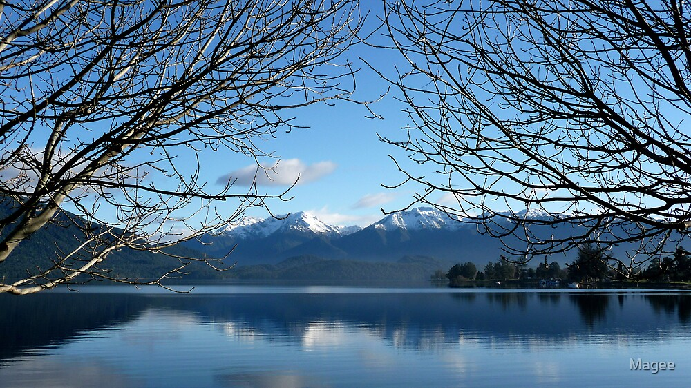 Lake Te Anau...When the mist clears by Magee