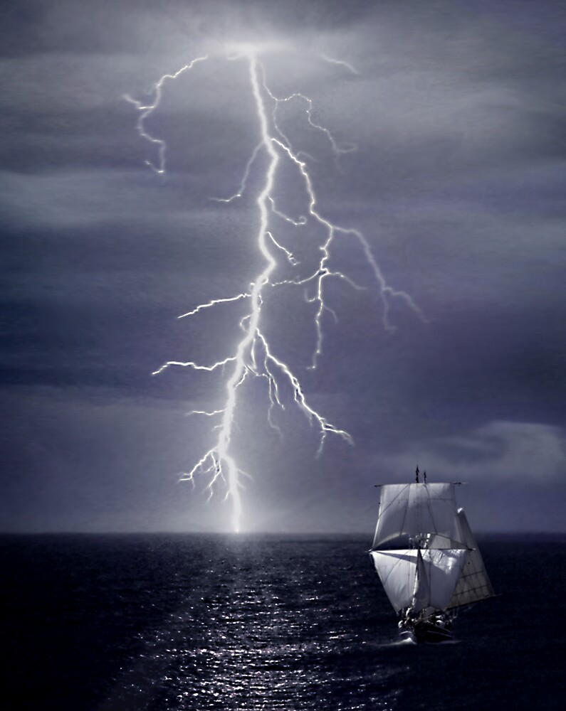 Escaping from Storm by Cliff Vestergaard
