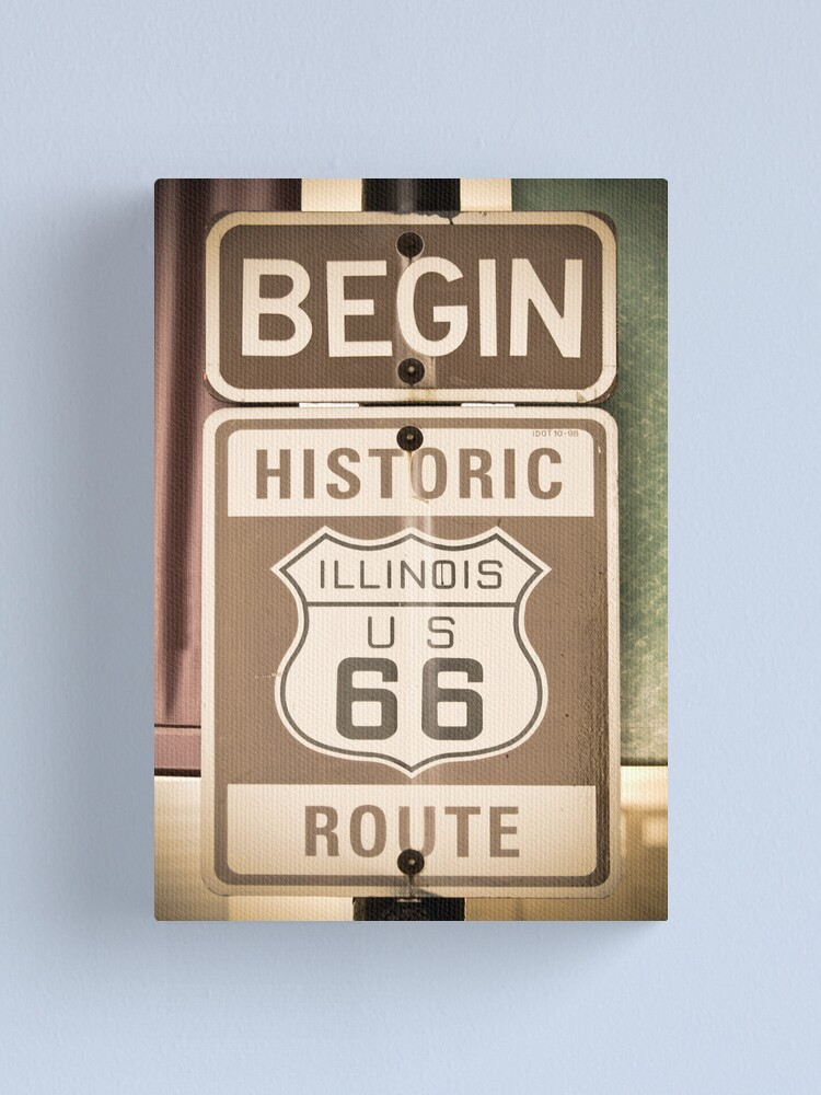 Alternate view of Route 66 - The Beginning Canvas Print