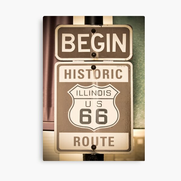 Route 66 - The Beginning Canvas Print
