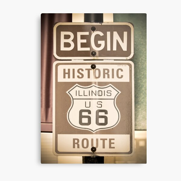 Route 66 - The Beginning Metal Print