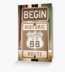 Route 66 - The Beginning Greeting Card