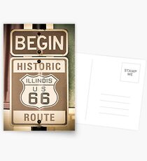 Route 66 - The Beginning Postcards