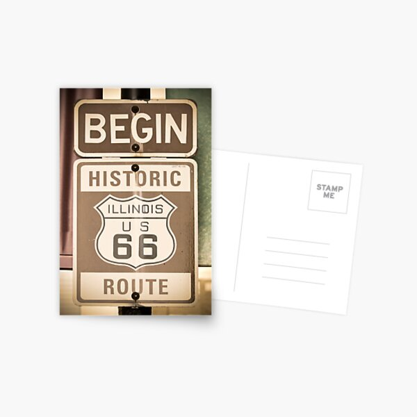 Route 66 - The Beginning Postcard