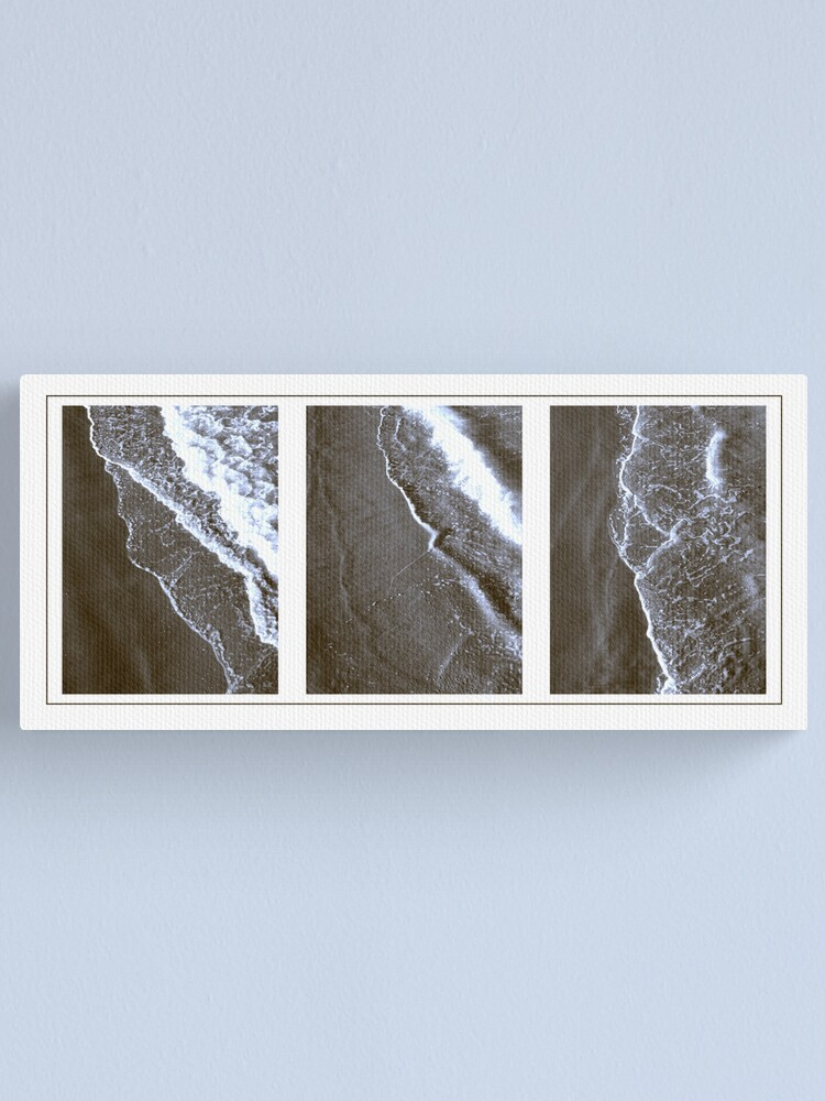 Alternate view of Surf triptych I Canvas Print