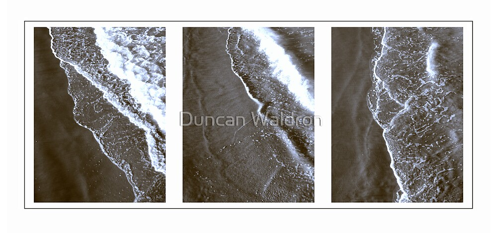 Surf triptych I by Duncan Waldron