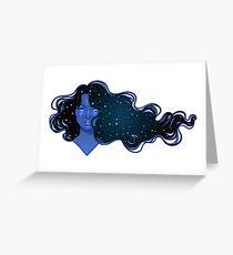 Night hair Greeting Card