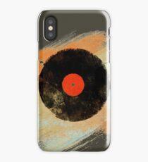 Vinyl Record Retro T-Shirt - Vinyl Records Modern Grunge Design iPhone Case