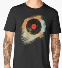 Vinyl Record Retro T-Shirt - Vinyl Records Modern Grunge Design Men's Premium T-Shirt