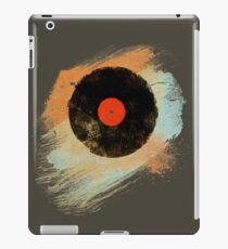 Vinyl Record Retro T-Shirt - Vinyl Records Modern Grunge Design iPad Case/Skin