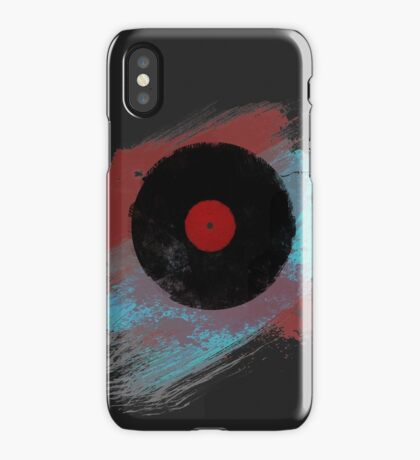 Vinyl Record - Modern Vinyl Records Grunge Design - Tshirt and more iPhone Case/Skin
