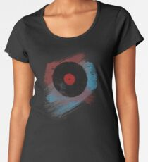 Vinyl Record - Modern Vinyl Records Grunge Design - Tshirt and more Women's Premium T-Shirt