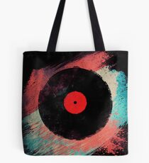 Vinyl Record - Modern Vinyl Records Grunge Design - Tshirt and more Tote Bag