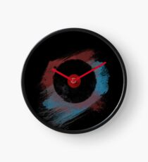 Vinyl Record - Modern Vinyl Records Grunge Design - Tshirt and more Clock