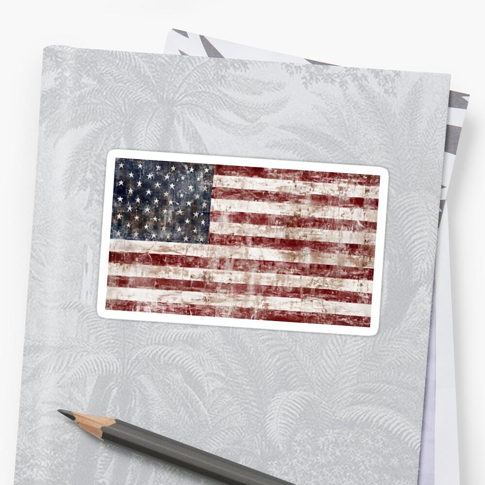 American Flag - Rustic/Distressed \