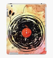 Enchanting Vinyl Records Grunge Art  iPad Case/Skin