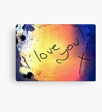 I love you! Canvas Print