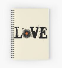 Love Vinyl Records Spiral Notebook