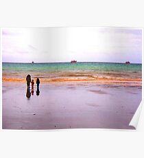 Three - The sea - Puerto Madryn Argentina Poster