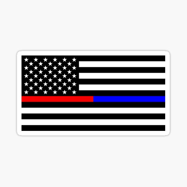 Thin Blue Red line decal State of Connecticut Tattered Flag Decal