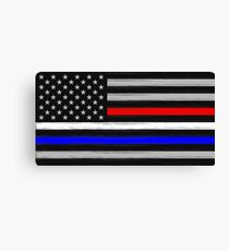 American Flag - Thin Blue, White, and Red Line Canvas Print
