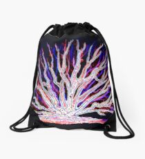 Sea Coral - Neon Drawstring Bag