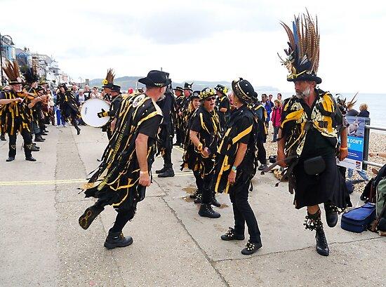 Folk Dancers.........Lyme Dorset UK by lynn carter