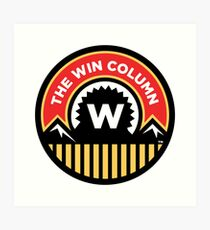 The Win Column Art Print
