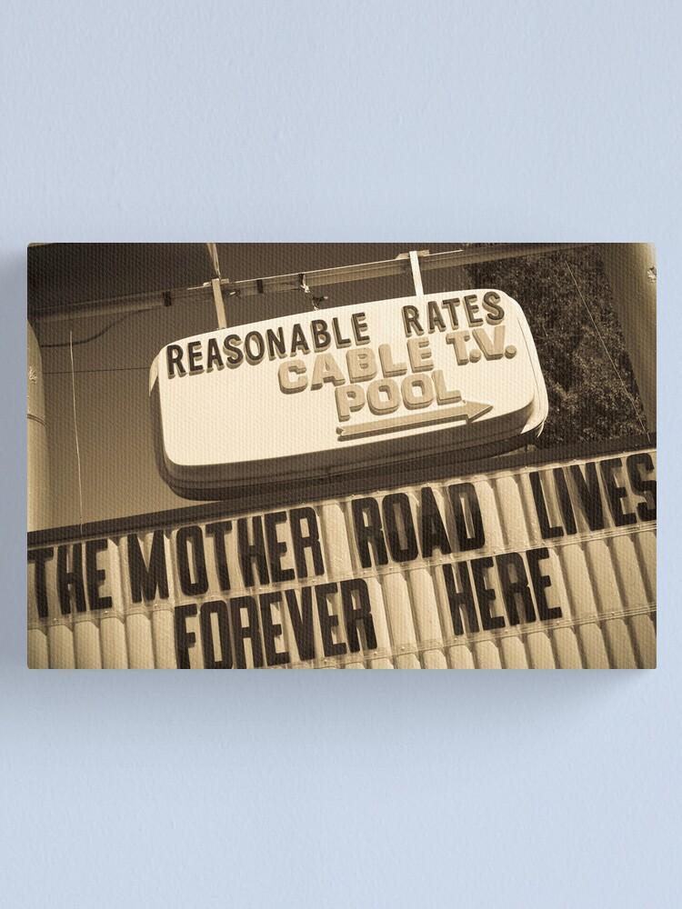 Alternate view of Route 66. Munger Moss Motel. Lebanon. Missouri. USA. Canvas Print