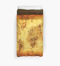 Vintage Old World Map Duvet Cover
