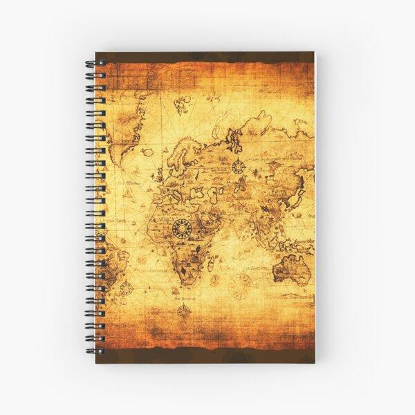 Vintage Old World Map Spiral Notebook