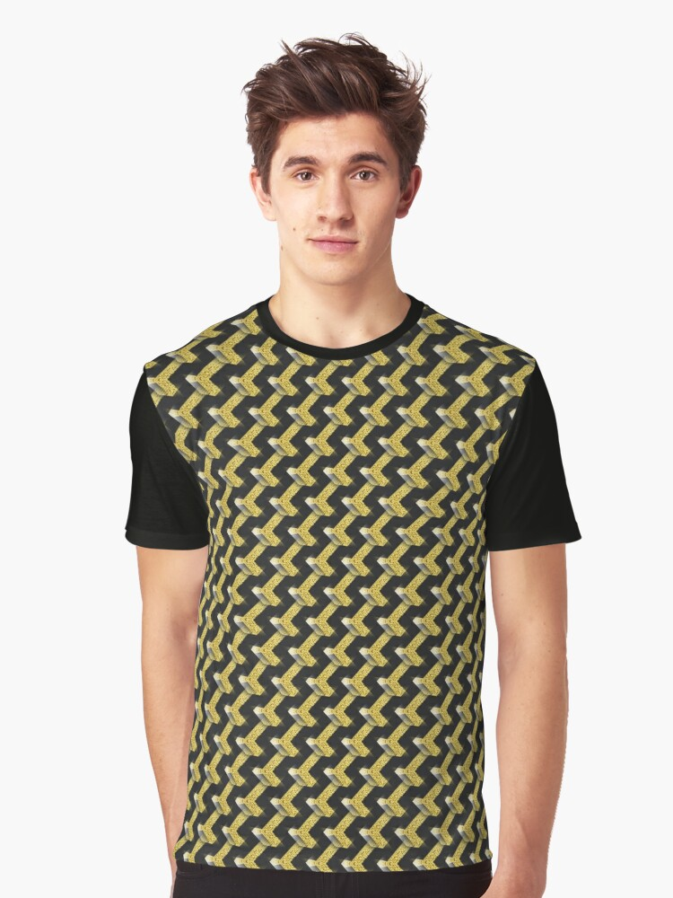 Black and Gold Pattern series Graphic T-Shirt Front