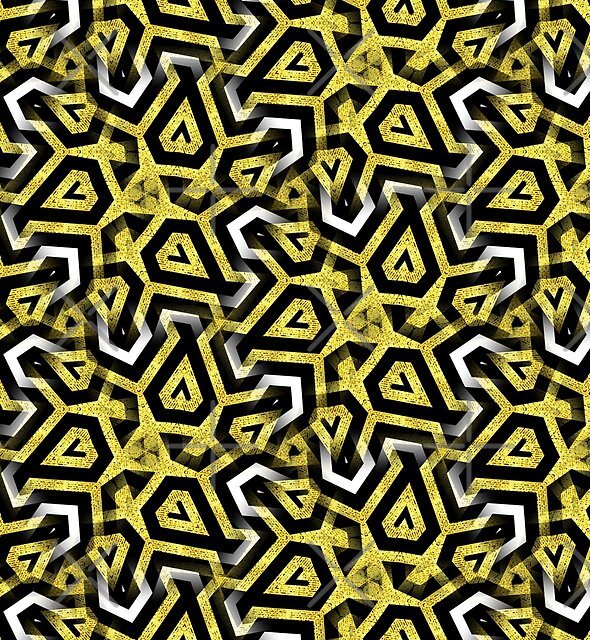 Gold Black White Abstract Patterns by webgrrl