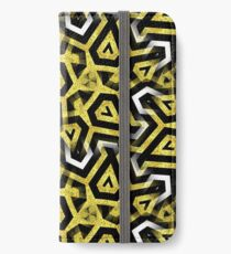 Gold Black White Abstract Patterns iPhone Wallet/Case/Skin
