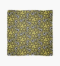 Gold Black White Abstract Patterns Scarf