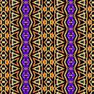 Aztec Halloween | Tribal pattern by webgrrl