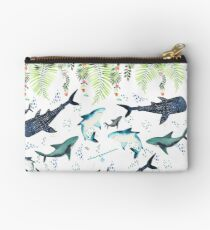 floral shark pattern Studio Pouch