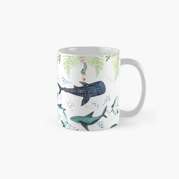 floral shark pattern Classic Mug