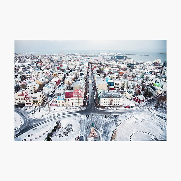 View over Reykjavik Photographic Print