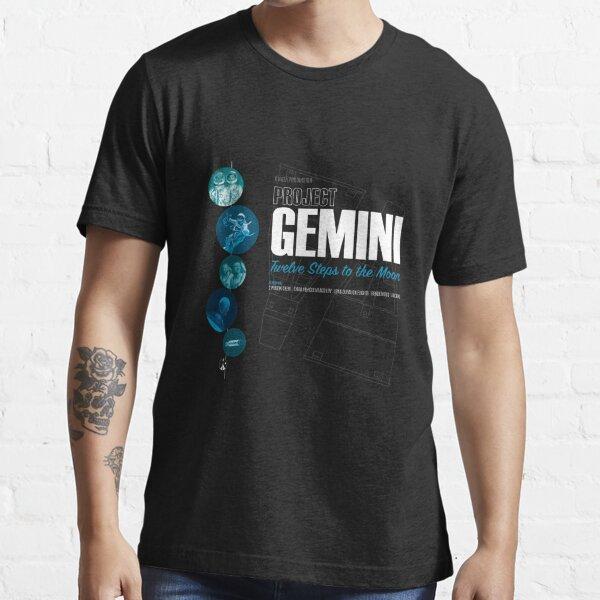 PROJECT GEMINI: Twelve steps To The Moon (Dark T-Shirt Version) Essential T-Shirt