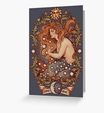 COSMIC LOVER - Color version Greeting Card