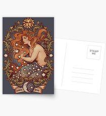 KOSMISCHE LIEBHABER - Farbversion Postkarten