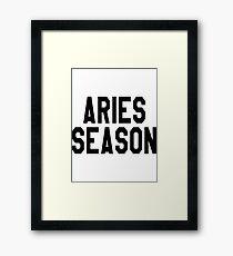 Aries season Framed Print