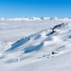 Above the clouds at Cardrona 1 by Charles Kosina